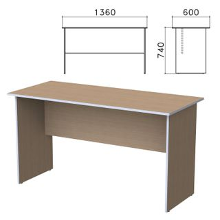 Budget table, 1360 x600 x740 mm, nut Ontario