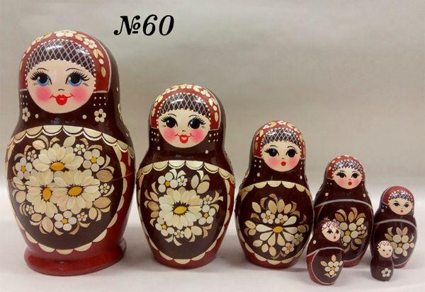 "Vyatka souvenir / Inlaid matryoshka 7 ave. ""Lyubushka"""
