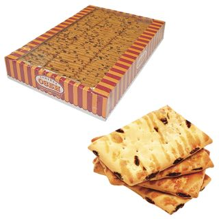 OZBI FAMILY / Lingering biscuits with raisins, apple and cinnamon, 1.8 kg, by weight, corrugated box