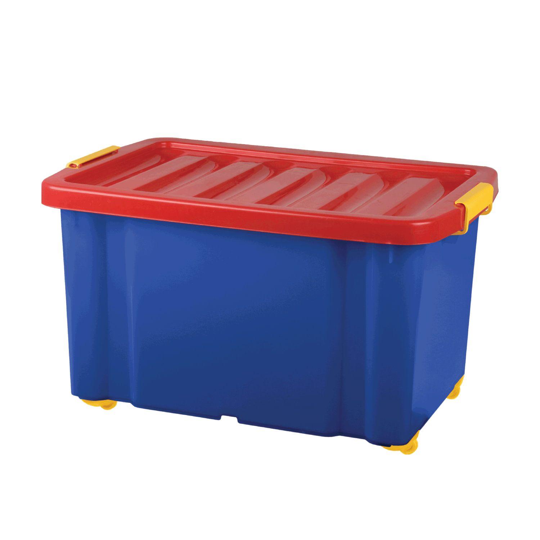 "Toy storage box 60 liters, 39.3 x 59,333,9 cm, on wheels, with lid, ""Jumbo"""