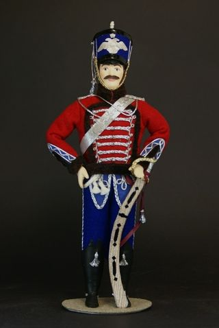 Doll gift porcelain. Russia. Hussars. The uniform of the life guards hussar regiment. 1840 G.