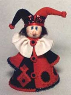 Doll-poteshka gift. Jester. Wood, textiles.