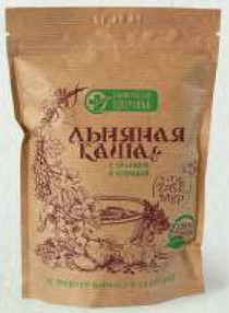 Flour and cereal products: Dry cereals based on flax seeds: Flax porridge with apple and cinnamon, 400g