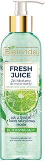Detoxifying micellar gel face wash, FRESH lime JUICE, BIELENDA, 190 g