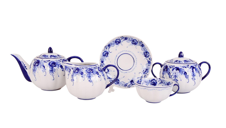 Dulevo porcelain / Tea set 15 pcs. Tulip Tenderness