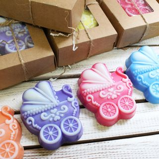 Handmade soap Stroller - mix of colors