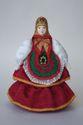Doll gift porcelain. Matreshka-Dunya in traditional summer attire. Russia - view 1