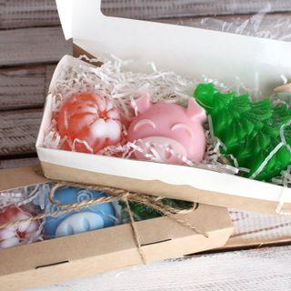 Set of handmade soap Swine New Year
