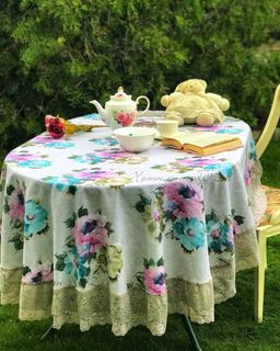 Tablecloth with lace Avignon