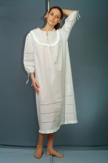 Womens shirt with cutwork and frill