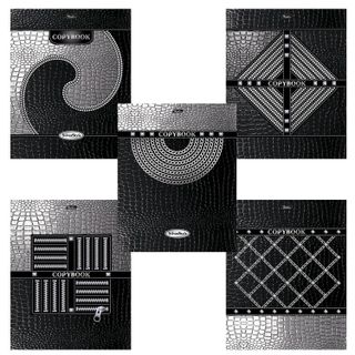 Notebook A5, 96 sheets, HATBER, staple, cage, 3D foil, 3D varnish,