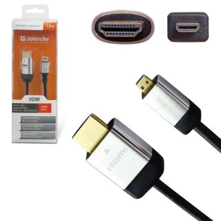 DEFENDER / HDMI-micro HDMI cable, 1.8 m, MM, for digital audio-video transmission