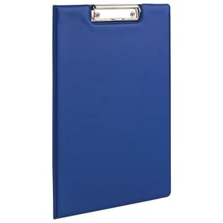 Folder tablet BRAUBERG, A4 (340х240 mm), with holder and lid, cardboard/PVC, RUSSIA, blue