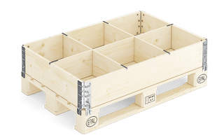 The separator 6 of the cell for collapsible container
