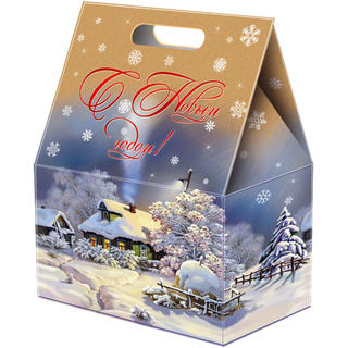 """New Year's gift Package """"Russian motives"""" 1350g. + set of sweets 300g."""