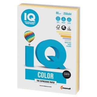 IQ COLOR / A4 paper, 80 g / m2, 250 sheets, (5 colors), color, medium-intensity (trend)