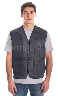 "Vest ""Master"" (mesh fabric), dark grey"