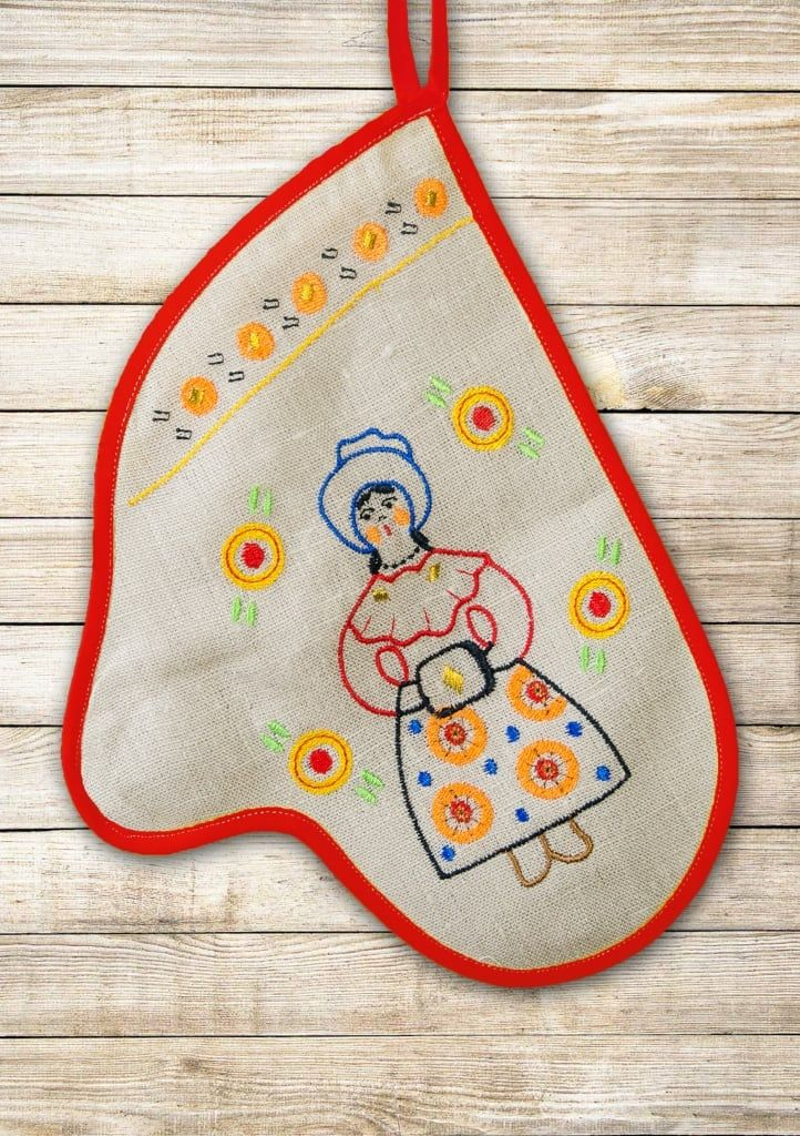 "Potholder ""Vyatka festivities - lady"""