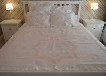 Set of bed linen from cotton with embroidery