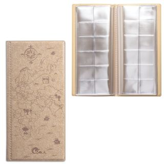 DPS / Album for coins or banknotes for 72 coins D up to 30 mm, 105x223 mm, pull-out pockets, beige