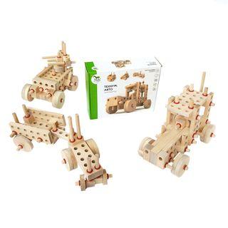 """Designer """"Tekhnum-AUTO"""", wooden toys."""