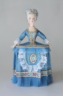 Souvenir doll-case. Costume of the court lady of the 18th century. Europe