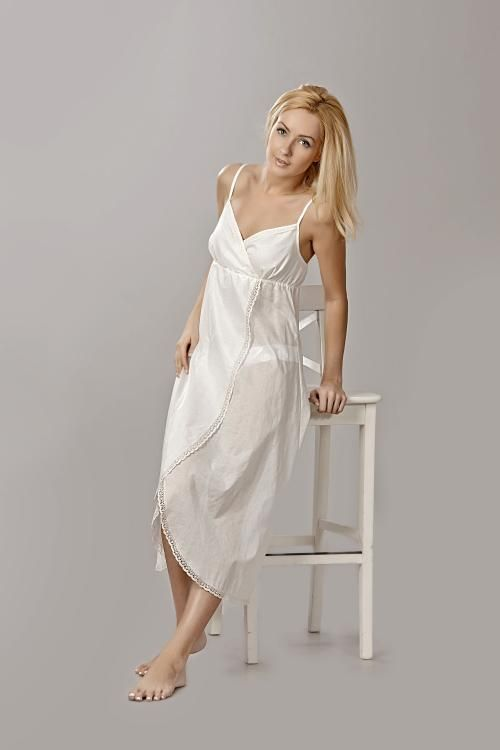 "Chemise nightwear women's ""Sweet fantasy"" semi-fitted silhouette with a undercut under the breast"
