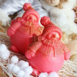 Berry Snowman - designer homemade olive gift soap