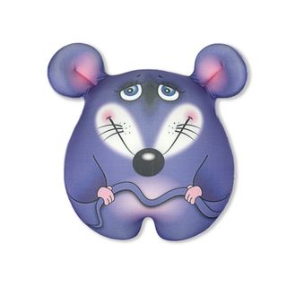 """Anti-stress toy """"Mouse-conscious"""" large, purple"""