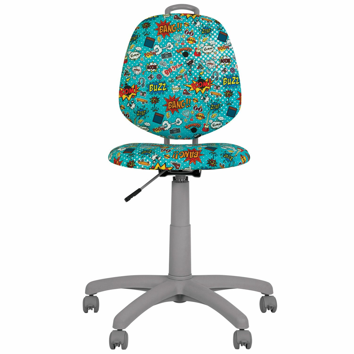 "Children's armchair ""VINNY GTS"" without armrests, turquoise with a pattern"