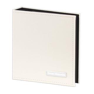 BRAUBERG photo album for 200 photos 10x15 cm, smooth skin, customized box, white