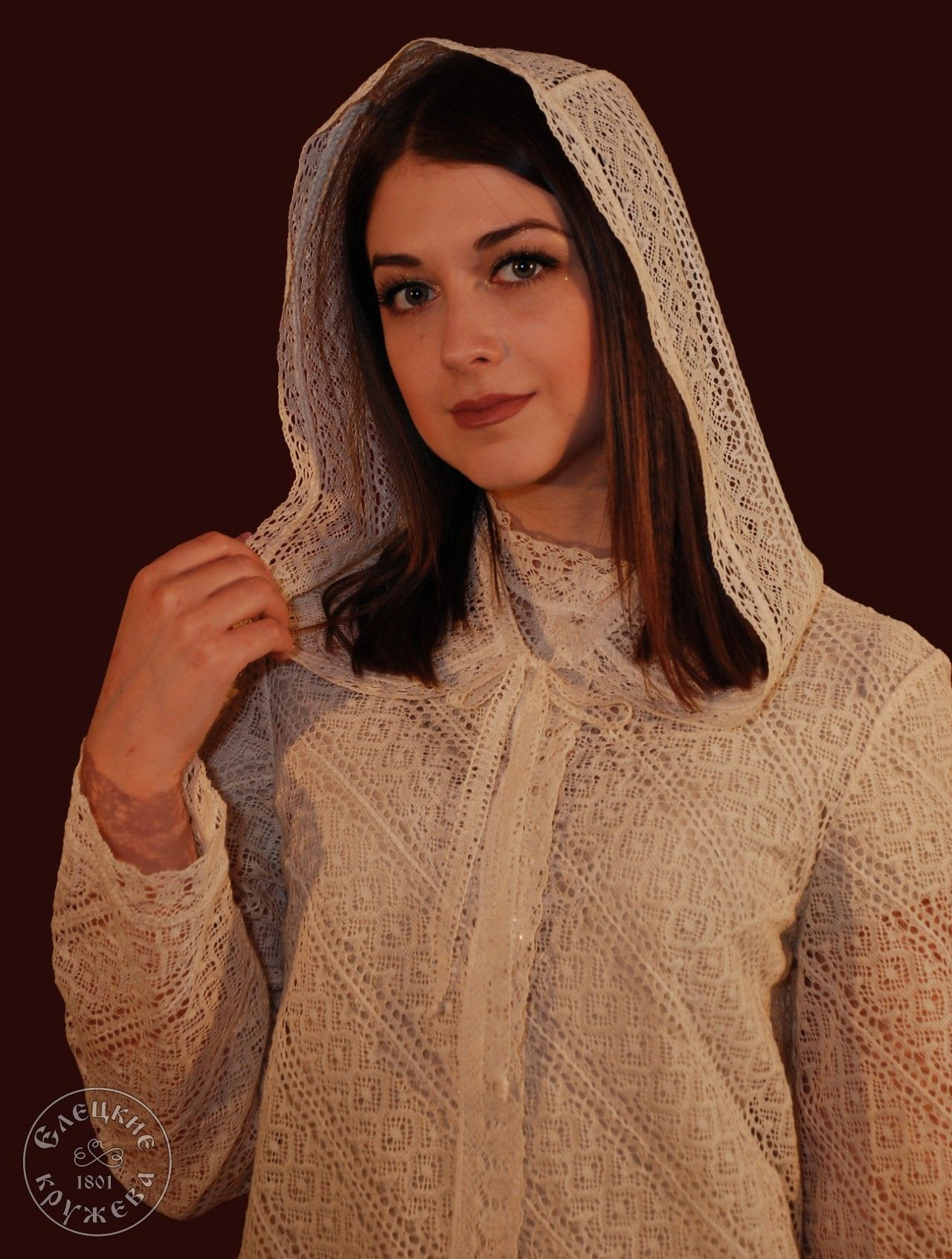 "Yelets lace / Women's lace cape ""Hood"""
