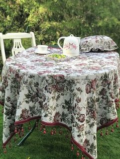 Tablecloth with fringe Beatrice