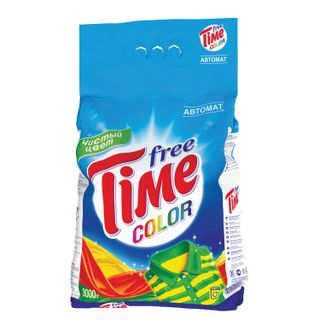 Washing powder automatic FREE TIME (Free Time) Color (Nefis Cosmetics) 3 kg