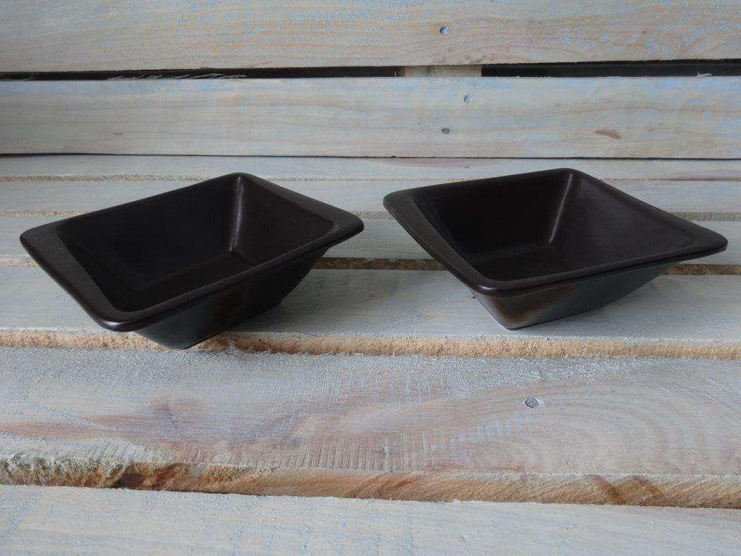 "Horeks / Salad bowl ""Carbone"" white rhombus 16 pcs."