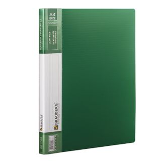 "Folder with side metal clip and inside pocket BRAUBERG ""Contract"", green, 100 l, 0.7 mm"