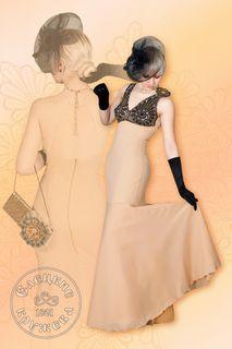 Dress womens linen beige with black