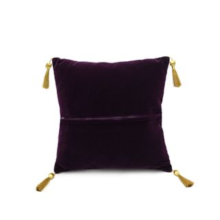 """Cushion divan """"In the meadow"""" purple with gold embroidery"""