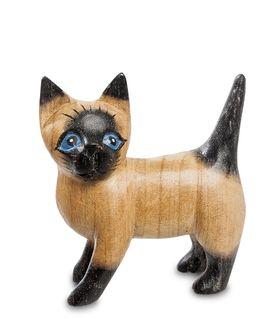 "Wooden figurine ""Kitten blue eyes"" 10 cm"