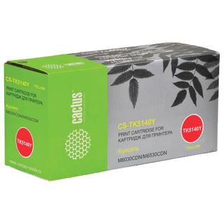 Toner cartridge CACTUS (CS-TK5140Y) for KYOCERA Ecosys M6030cdn / M6530cdn, yellow, yield 5000 pages