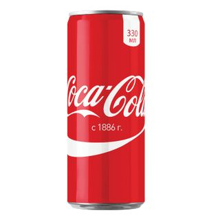 COCA-COLA / Carbonated drink Coca-Cola, 0.33 l