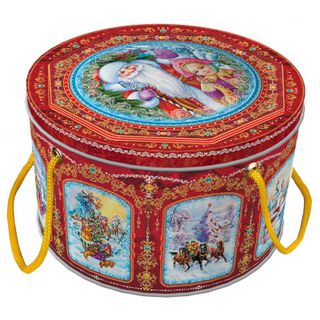 "New Year's gift from the Bank ""Winter landscapes"", a set of sweets 450g."