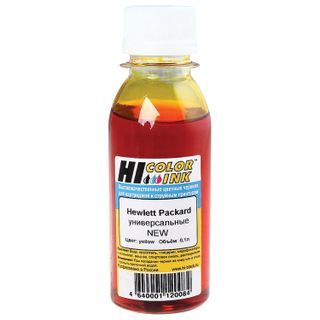HI-COLOR ink for HP universal, yellow, 0.1 l, water
