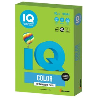 Paper, A4, 80 g/m2, 100 sheets, intensive, bright green