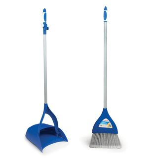 LIMA / Broom scoop with brush, folding, metal handle 66 cm, rubber edge, for home and office