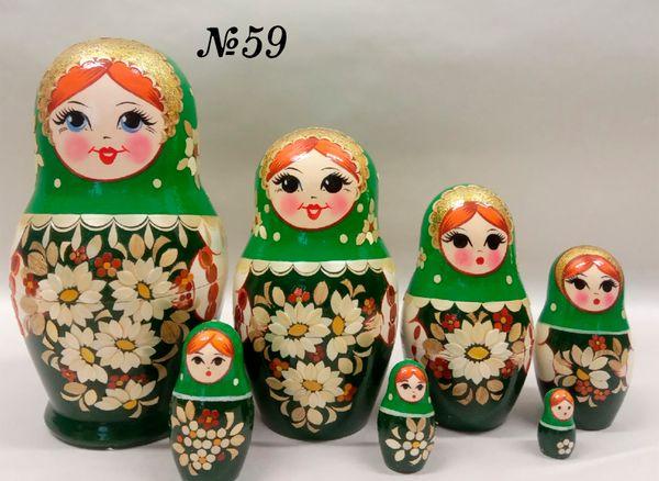 "Vyatka souvenir / Inlaid matryoshka 7 ave. ""Daisies"""