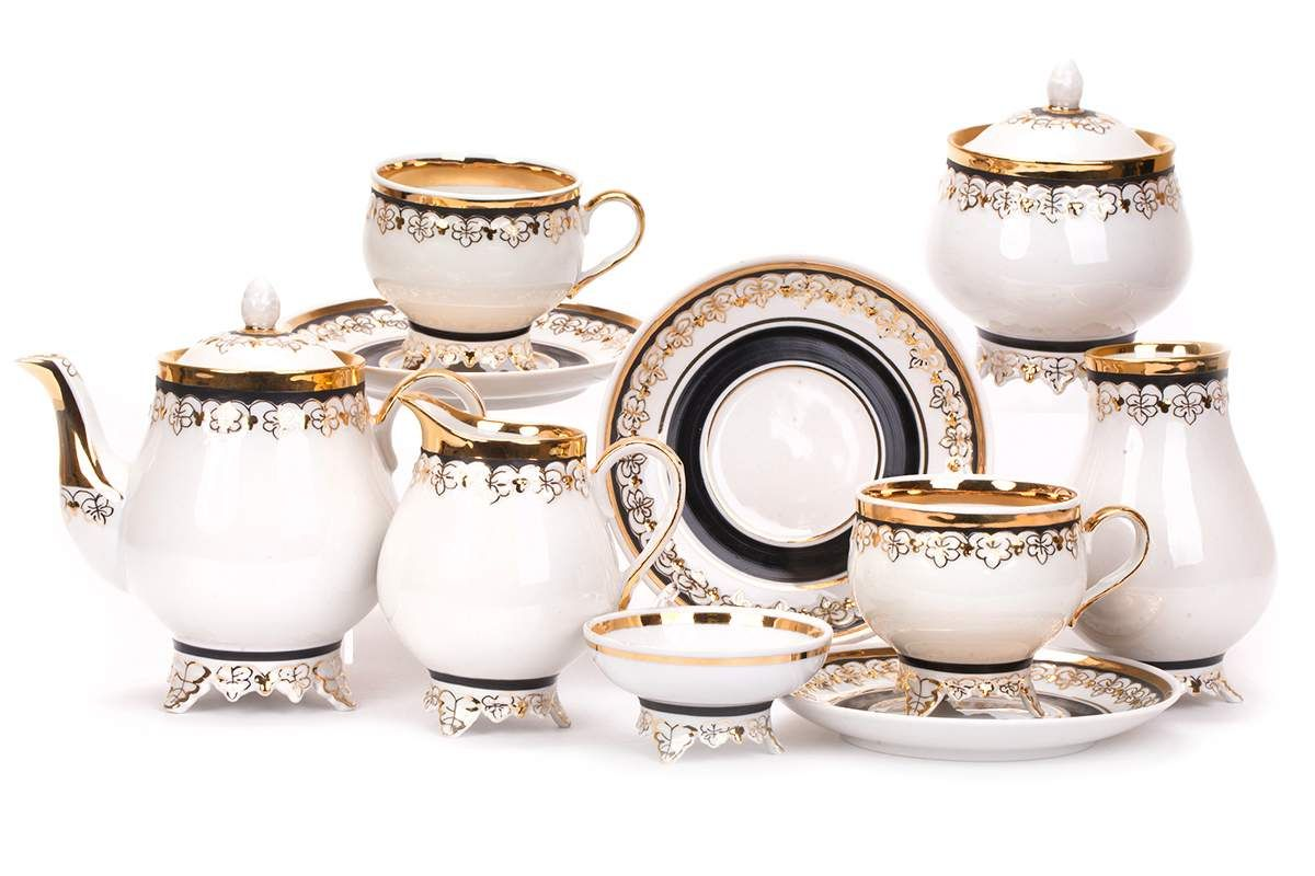Dulevo porcelain / Tea set 22 pcs. Grape vine north