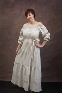 "Dress is ""Country"" from linen thin fabric"