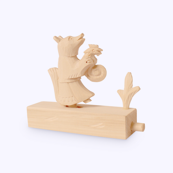 Bogorodskaya toy / Wooden souvenir 'The fox carries me'