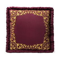 Cushion divan 'Dreams' Burgundy with gold embroidery